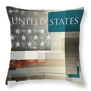 United States Throw Pillow