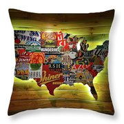 United States Wall Art Throw Pillow