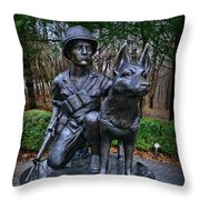 United States War Dog Memorial Throw Pillow