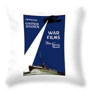 United States War Films Now Being Shown Throw Pillow by War Is Hell Store