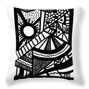 Night And Day 2 Throw Pillow