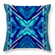 Simply The Blues Throw Pillow