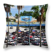 Universal Florida Parking Entrance Throw Pillow