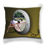Universal Portal - Use Red-cyan 3d Glasses Throw Pillow