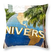 Universal Studio Globe Throw Pillow