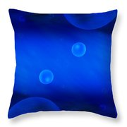 Universe In Blue Throw Pillow