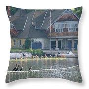 University Barge Club - Philadelphia  Throw Pillow