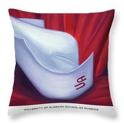 University Of Alabama School Of Nursing Throw Pillow