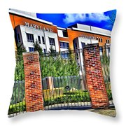 University Of Maryland - Byrd Stadium Throw Pillow