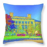 University Of Massachusetts Throw Pillow