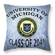University Of Michigan Class Of 2041 Throw Pillow