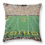 University Of Michigan Stadium, Ann Throw Pillow
