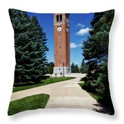 University Of Northern Iowa Bell Tower Throw Pillow