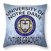 University Of Notre Dame Future Graduate Throw Pillow