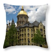 University Of Notre Dame Main Building 1879 Throw Pillow