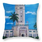 University Of Puerto Rico Tower Throw Pillow
