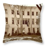 University Of South Carolina President's Residence In Sepia Tones Throw Pillow