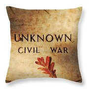 Unknown Civil War Throw Pillow