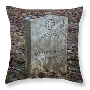 Unknown Confederate Soldier - Natchez Trace Throw Pillow