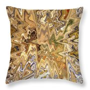 Unknown Paths Abstract Art Throw Pillow