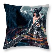 Unleashing Bloodlust  Throw Pillow