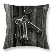 Unlocked - Keys And Opened Door Throw Pillow