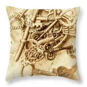 Unlocking The Past Throw Pillow