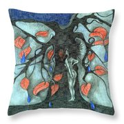 Unmarried Woman Throw Pillow