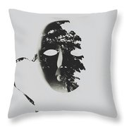 Unmasking In Silence Throw Pillow