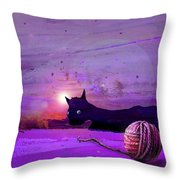 Unravelling Throw Pillow by Miki De Goodaboom