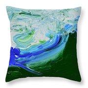 Unrestful Sea Throw Pillow
