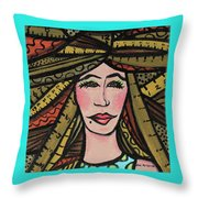 Unruly Hair Throw Pillow