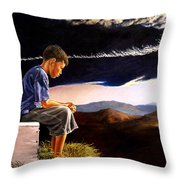 Unscarred Mountain Throw Pillow