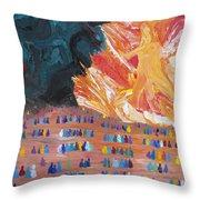 Unseen Battle Throw Pillow