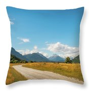 Unspoiled Alpine Scenery From Kinloch-glenorchy Road, Nz Throw Pillow