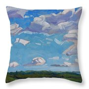 Unstable Over Burks Falls Throw Pillow