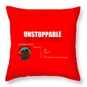 Unstoppable V2 Throw Pillow