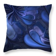 Untitled 01-26-10 Blues Throw Pillow