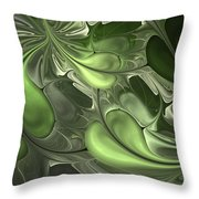 Untitled 1-26-10 Pale Green Throw Pillow