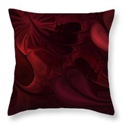 Untitled 1-26-10 Reds Throw Pillow