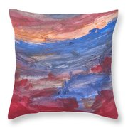 Untitled 104 Original Painting Throw Pillow