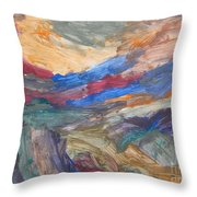 Untitled 107 Original Painting Throw Pillow