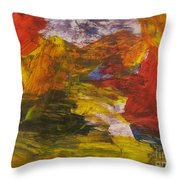 Untitled 113 Original Painting Throw Pillow
