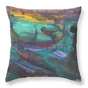 Untitled 118 Original Painting Throw Pillow