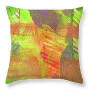 Untitled #13 Abstract Multicolor Throw Pillow