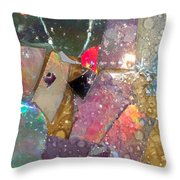 Untitled Abstract Prism Plates II Throw Pillow