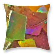 Untitled Abstract Prism Plates IIi Throw Pillow