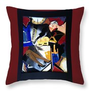 Untitled-collage Painting Throw Pillow