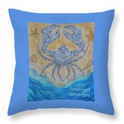 untitled Crab Throw Pillow