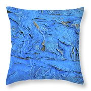 Untitled-weathered Wood Design In Blue Throw Pillow